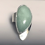 Modernist Light Green Jade Ring